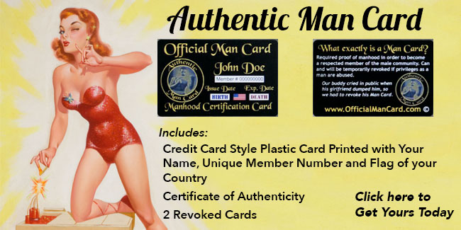 Authentic Man Card