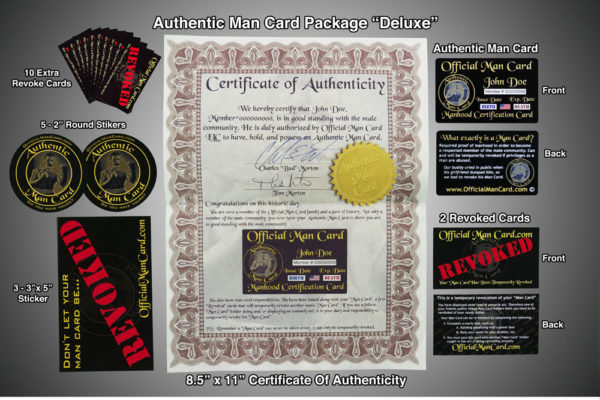 "Authentic Man Card Package ""Deluxe"""